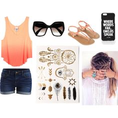 Untitled #204 by creator31 on Polyvore featuring VILA, Accessorize, Prada and Jac Vanek