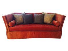 Knole  Sofa - rust color  on Chairish.com