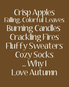 Loving Autumn