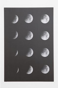 Moon Phase Poster Online Only