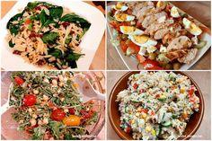 Tort sałatkowy - hit każdej imprezy - Swojskie jedzonko Pasta Salad, Cobb Salad, Bruschetta, Keto, Lunch, Ethnic Recipes, Food, Youtube, Crab Pasta Salad