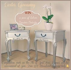 Win a pair of french silver bedsides!