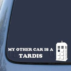 """Really tempted. I already have a license plate frame that says """"Bigger inside than out. TARDIS."""" When do you have too much Doctor Who stuff? Or specifically, on your car?"""