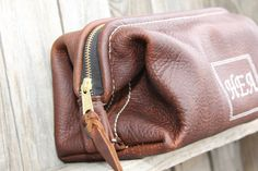 --Hinge Frame Leather Dopp Kit--- holds all bathroom necessities, great for travel, the gym, and just chillin' on your bathroom sink   ---by Lifetime Leather Co. handmade in the USA w/lifetime warranty