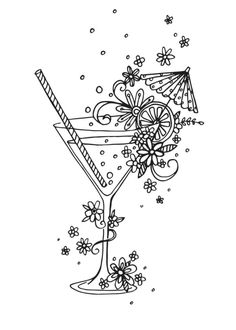 Claire Mcelfatrick - Cocktail Linework