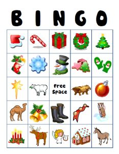 Christmas Bingo use this one for kindergarten class