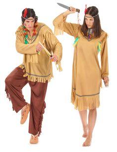 Déguisement couple indiens : Déguisement d'indien pâle hommeCe déguisement d'indien pâle homme se compose d'un haut, d'un pantalon, et d'un bandeau. Lance non-incluse. Taille...