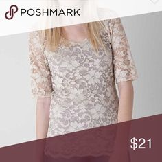 Buckle lace top Buckle lace top, gently worn. Buckle Tops