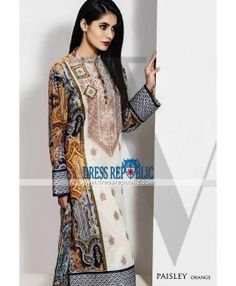 Vaneeza Eid Collection 2015 Silk Chiffon Party Suits