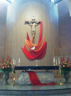 Decorating Church for pentecost | Pentecost 2013 St.Joseph Catholic Church Lincoln NE | Church Decor ...