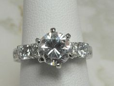 A Lovely Sterling Silver and CZ Ring by MadJacksJewelry on Etsy