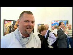 Miskei Béla kiállítása a Premier Galériában (Kecskeméti tv)