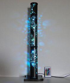 Lampe d'ambiance en bambou led multicolore hauteur 68cm