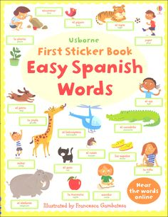 Usborne First Sticker Book Easy Spanish Words | Main photo (Cover)