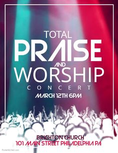 passion and worship concert flyer click on the image to customize on postermywall