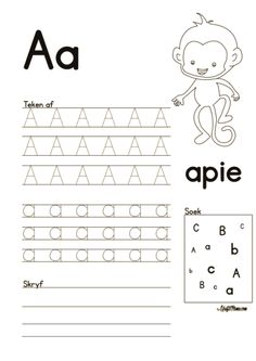 Afrikaans Alfabet A en B werkskaarte - KraftiMama Grade R Worksheets, Writing Practice Worksheets, Printable Preschool Worksheets, Preschool Learning Activities, Alphabet Worksheets, Worksheets For Kids, Work Activities, Holiday Activities, Alphabet Kindergarten