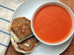 Stephanie Izard's Tomato-Apple Soup sounds absolutely delicious! She uses an apple cider and white wine combo instead of stock. Yum!