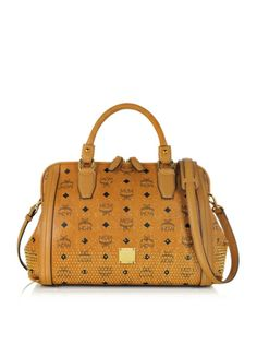 b2d02458a2c8 MCM Gold Visetos Boston Medium Satchel  990.00 Actual transaction amount