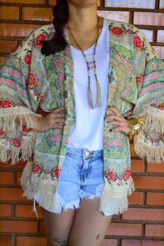 Mundo K: Look básico e kimono.