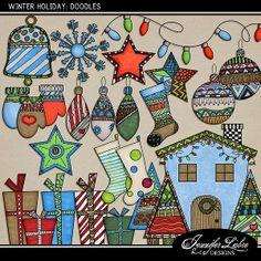 Winter Holiday: Doodles :: Doodles :: Elements :: Memory Scraps