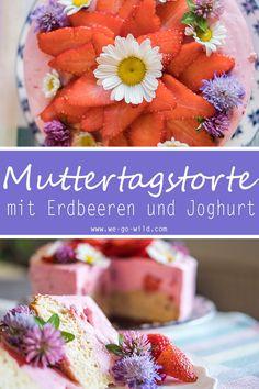 Falls du mehr leckere Rezepte ohne Zucker suchst, klick hier. Am Muttertag will man die Mama verwöhnen. Am besten geht das mit einem essbaren Muttertagsgeschenk. Am Muttertag Torte machen, zeigt ganz sicher wie dankbar du deiner Mama bist für alles was sie tut. Unsere Muttertag Dessert mit Erdbeeren und Joghurt ist übrigens zuckerfrei. Also gesund auch noch. Ein perfektes DIY Geschenk für Mama. #Muttertag #Geschenk