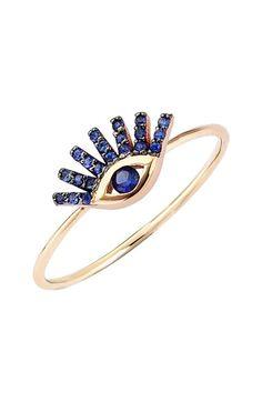 Kismet by Milka 'Protect Me' Precious Stone Evil Eye Ring   Nordstrom