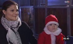 queensofias:  Crown Princess Victoria and Princess Estelle attended the Lucia Morning, December 13, 2013.