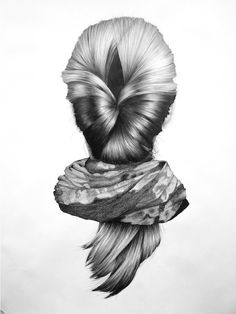 Drawing from the 'Reverse Portrait' pencil series by Nettie Wakefield