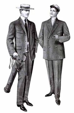 1906-1907 The men wore suits that were still more short and bulky with padding but these are the last couple of years that trend was still in. (Sydney S.)