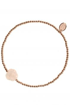 with love I rose gold plated bracelet with #rose #quartz element I designed for NEW ONE I NEWONE-SHOP.COM