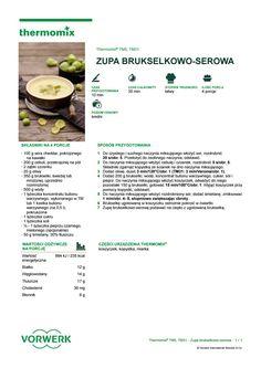 Zupa brukselkowo serowa