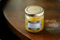 dżem gruszkowy z imbirem i cytryną