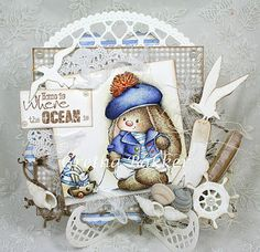 How enchanting is this gorgeous card! Using a fabulous Scrapberry Image available from Funky Kits. I just LOVE this gorgeous card design by the fabulous Gretha Bakker. Check out her blogspot for more divine cards she's created.