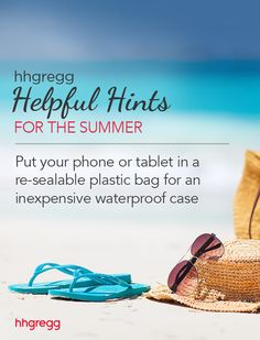 Put your phone or tablet in a re-sealable plastic bag for an inexpensive waterproof case