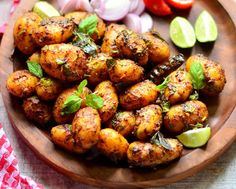 Planning for Dinner? How about making Spicy baby potatoes? When you are confused potatoes always comes to the rescue and this is a delicious dish with flavours and spices. Serve with Panchmel dal and Phulkas. Recipe by Shaheen. http://ift.tt/2f4mv4i #Vegetarian #Recipes