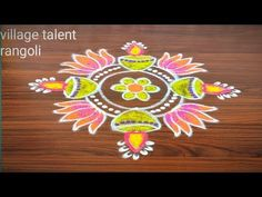 #VERY SIMPLE DEEPAM RANGOLI DESIGN FOR BEGINNERS WITH 5DOTS MADE EASY TO DRAW FOR EVERYONE - YouTube