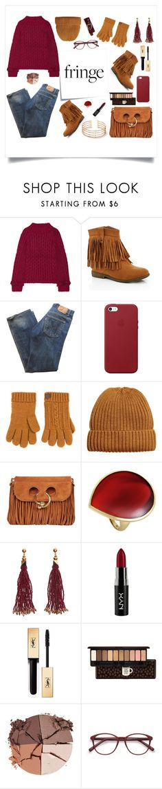 """""""Senza titolo #6851"""" by waikiki24 ❤ liked on Polyvore featuring Eleven Six, Post-It, Lady Godiva, Levi's, Apple, DUBARRY, J.W. Anderson, Ippolita, Nocturne and NYX"""