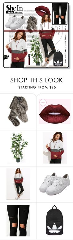 """""""Color Block Raglan Sleeve Hoodie With Pocket"""" by sandraa-jwoww ❤ liked on Polyvore featuring Oris, Nearly Natural, WithChic, Topshop and NARS Cosmetics"""