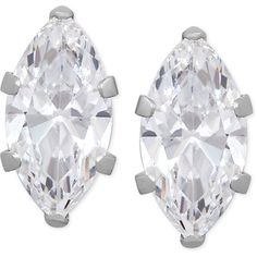 Marquise Cubic Zirconia Crystal Stud Earrings in 14 K Gold or 14k... ($68) ❤ liked on Polyvore featuring jewelry, earrings, white gold, gold cubic zirconia earrings, white gold stud earrings, white gold cubic zirconia earrings, 14k earrings and crystal stud earrings