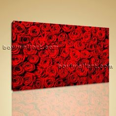 """Large Mural Feng Shui Abstract Floral Painting Rose Flowers HD Print Wall Art Extra Large Wall Art, Gallery Wrapped, by Bo Yi Gallery 36""""x24"""". Large Mural Feng Shui Abstract Floral Painting Rose Flowers HD Print Wall Art Subject : Rose Flower Style : Modern Panels : 1 Detail Size : 36""""x24""""x1 Overall Size : 36""""x24"""" = 91cm x 61cm Medium : Giclee Print On Canvas Condition : Brand New Frames : Gallery wrapped [FEATURES] Lightweight and easy to hang. High revolution giclee artwork/photograph...."""