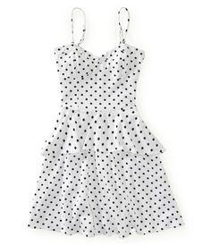 Dot Peplum Dress - Aeropostale