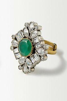 Garnet Deco Ring #anthropologie