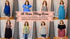 In today's post Hailey reviews a variety of clothing from recent purchases.  Brands include Target, Old Navy, Eloquii, Avenue, ModCloth, Ashley Stewart, Teespring, and The Bookish Box. (Avenue Follow Your Own Path Striped Tank) - DivineMrsDiva.com #Target #TargetStyle #OldNavy #Eloquii #XOQ  #Avenue #Modcloth #ashleystewart  #psblogger #plussizeblogger #styleblogger #plussizefashion #plussize #plussizeclothing #fittingroom
