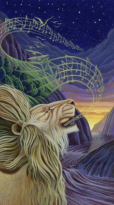 Magician's Nephew. When Aslan sings Narnia alive.