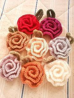 Crochet Tawashi Rose Scrubbie - Tutorial