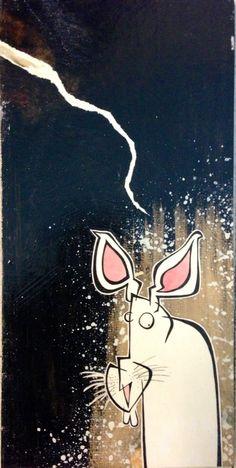 Rabbit art by Canadian artist Steven Dennis