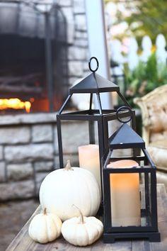 Fall wedding, pumpkins & lanterns #stlouisweddings #steveseebeck #lempmansion