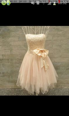 58cbf4a59ea Nude color dress with a bow Prom Dresses For Teens