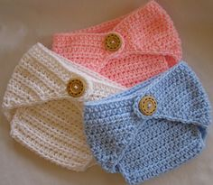 This crochet pattern comes with complete instructions and illustrations for a diaper cover. Diaper covers are a great add on to any hat that will be used as a photography prop. The pattern is designed to go over a diaper (not used instead of one), sizing is as follows: