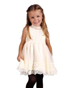 Look what I found on #zulily! Creme Lace Skater Dress - Toddler & Girls #zulilyfinds